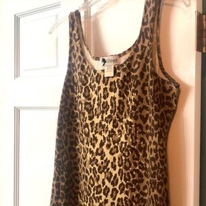 VTG Leopard Fitted Maxi Dress